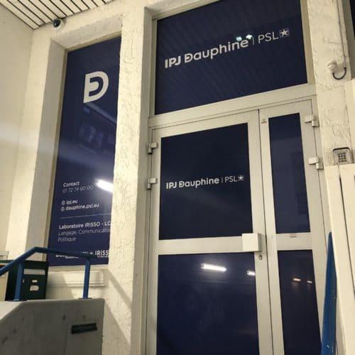 Facade de l'Institut Pratique du Journalisme IPJ Dauphine